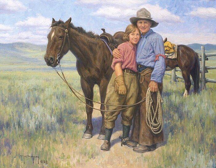 Два ковбоя. Отец и сын