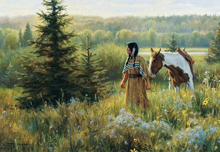 Индейская женщина. Лето
