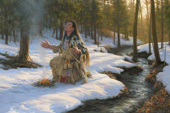 Молитва в лесу
