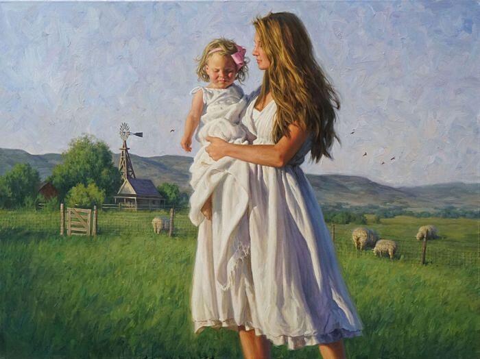 Прогулка с дочерью