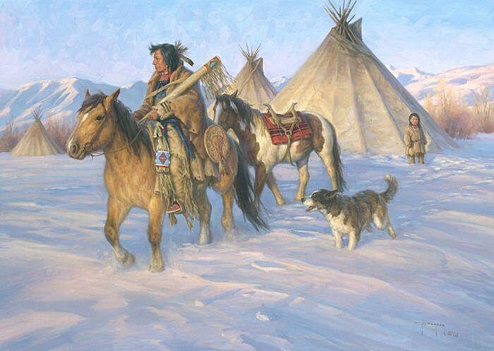Стойбище индейцев