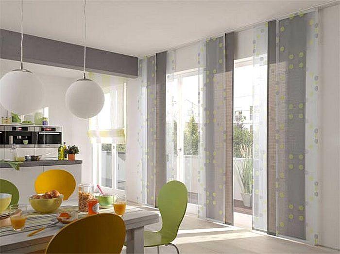 Легкие, воздушные шторы на кухне