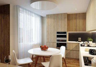 Шторы на кухню в современном стиле