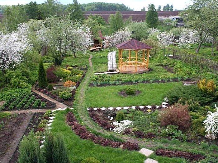 Садовый участок в ландшафтном стиле
