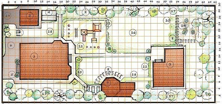 План участка с жилым домом