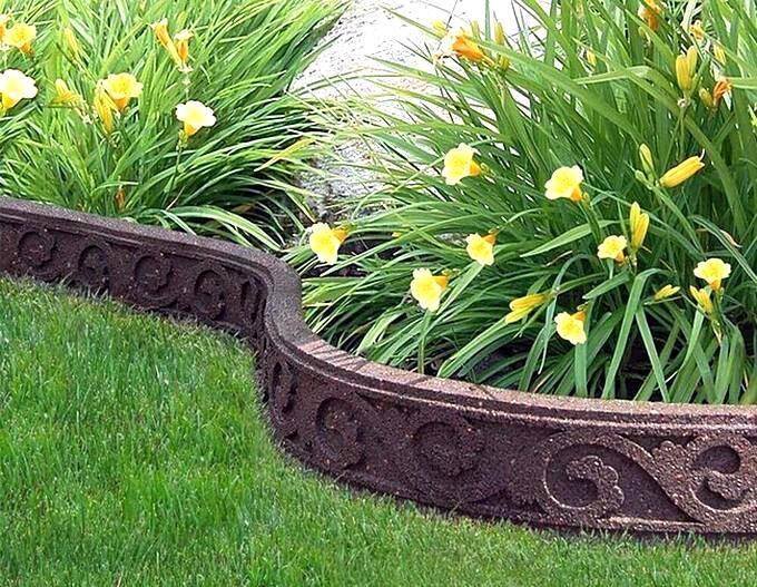 Бордюр цветника и декоративной бетонной ленты