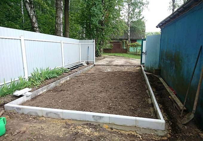 Подготовка площадки из щебня