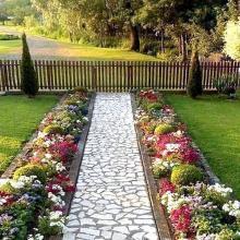Садовые дорожки с малыми затратами своими руками: 10 лучших вариантов