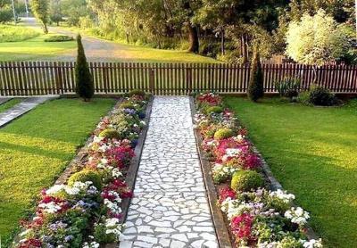 Садовые дорожки с малыми затратами своими руками